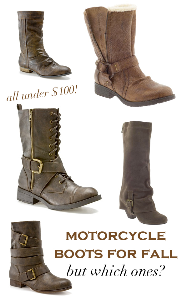 Fall motorcycle boots