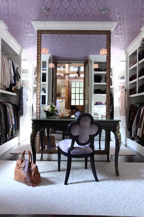 Liz Caan closet lavender purple dressing mirror