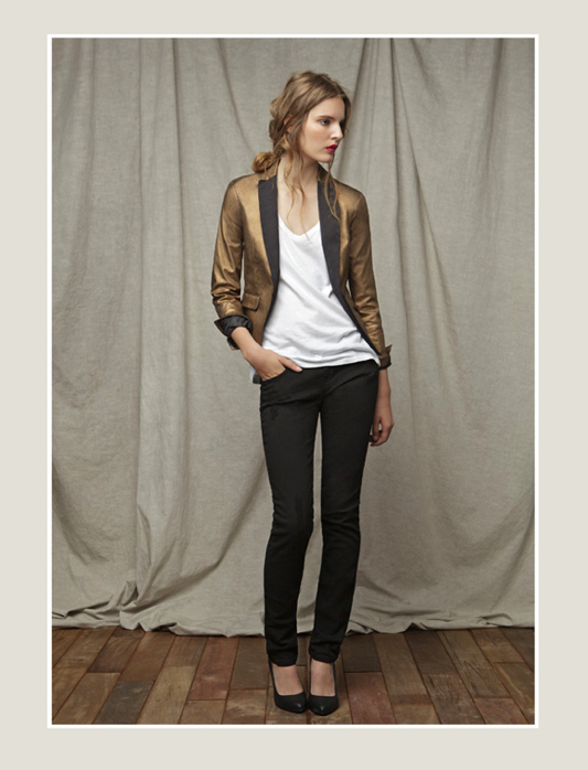 zara august gold blazer