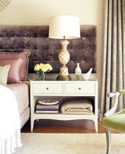 bedside table white purple dresser