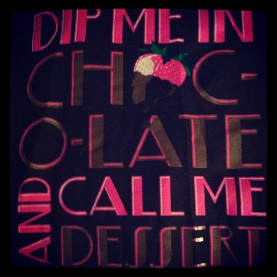 dip me in chocolate and call me dessert t-shirt cute pink strawberry vegas