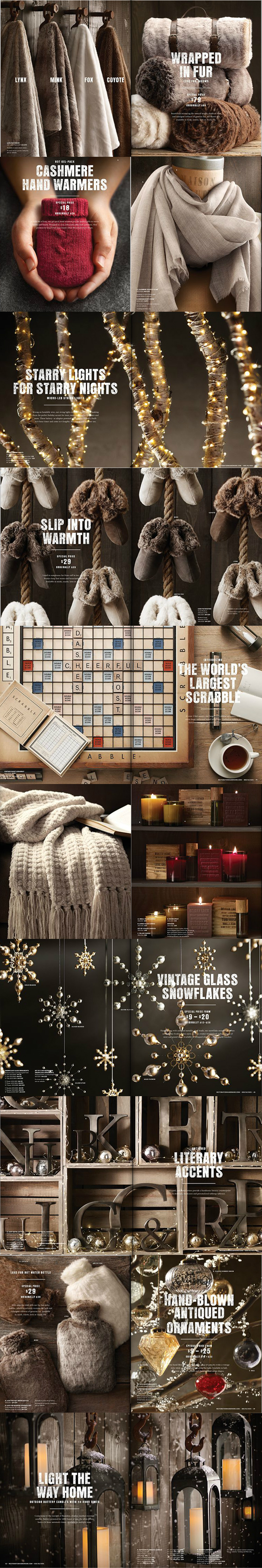Restoration Hardware holiday warmth gifts cozy winter