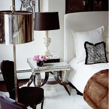 bedside table bed bedroom white