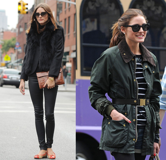 Olivia Palermo street style black fashion fall winter