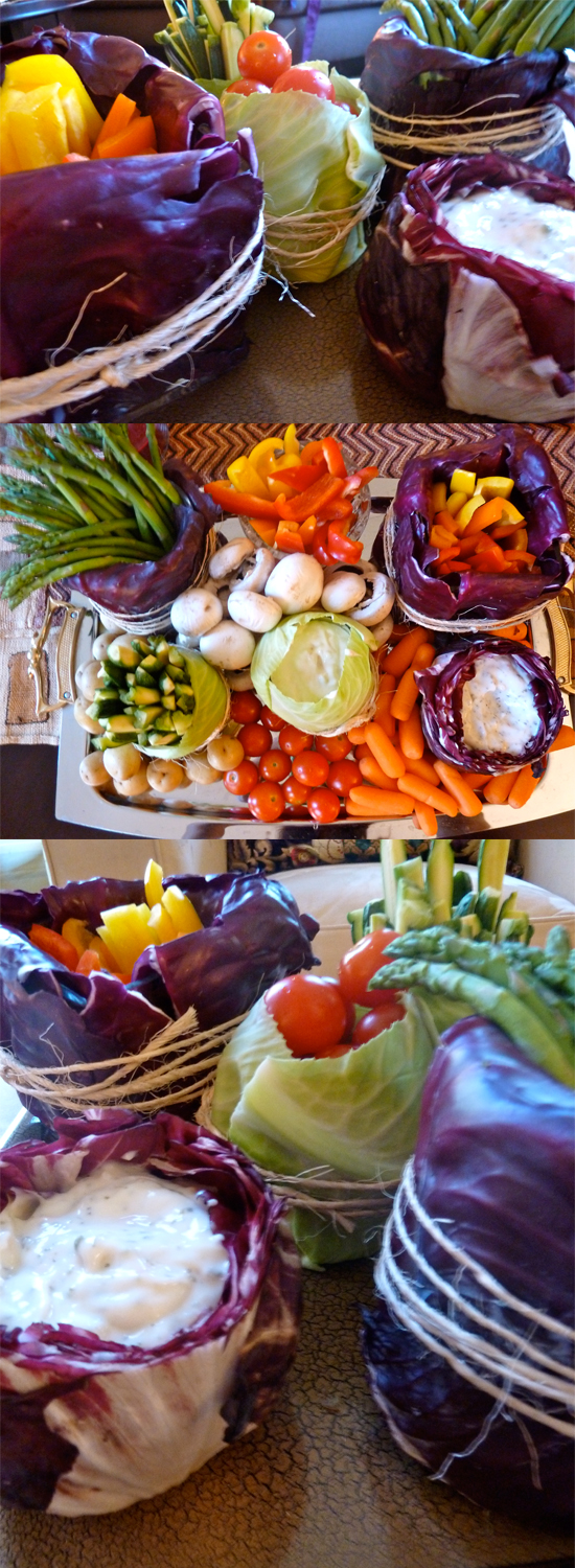 Thanksgiving table veggies