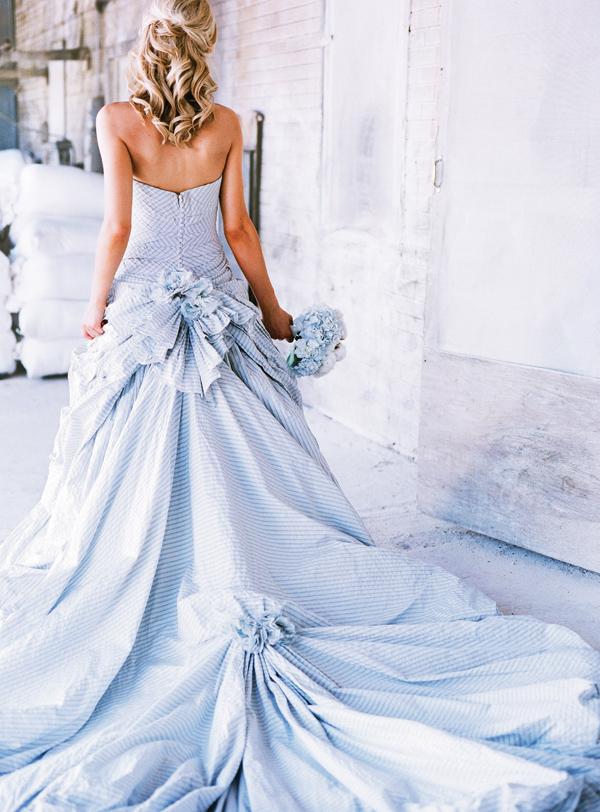 Southern Weddings seersucker dress gown