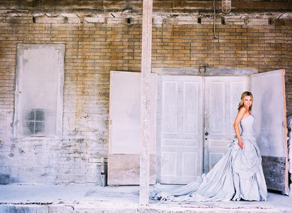 seersucker dress gown wedding