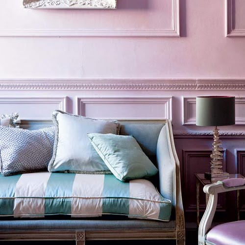candy colored living pink purple green stripes couch