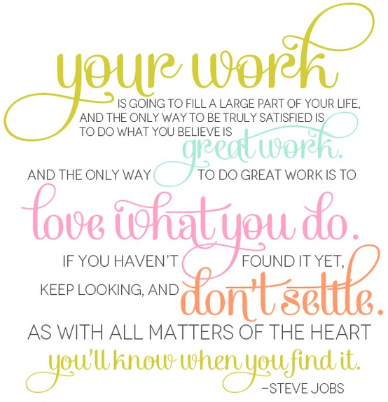 Steve Jobs quote work job