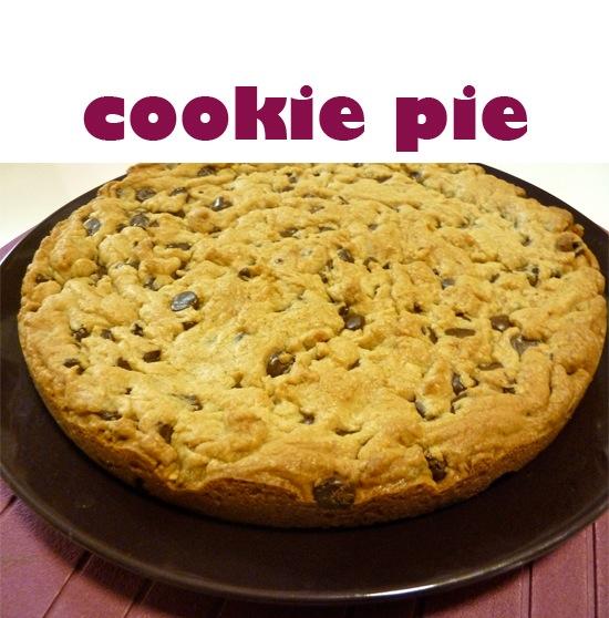 cookie pie chocolate chip peanut butter