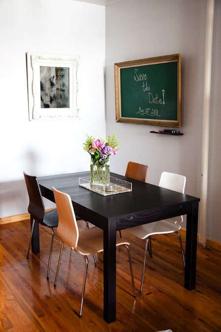dining mismatched chairs table