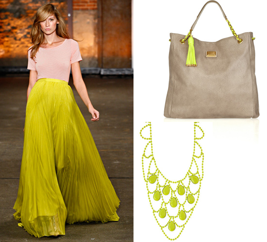 neon green brights color neutral