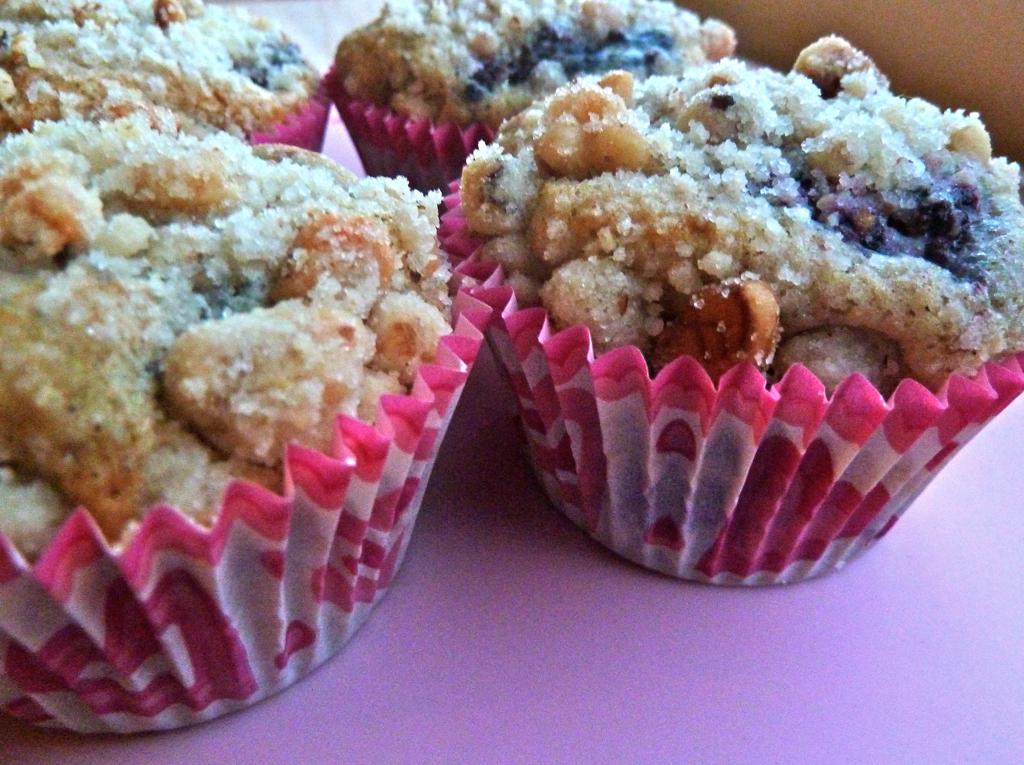 blackberry muffins Valentine's Day hearts pink breakfast