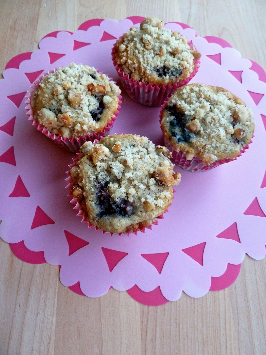 blackberry muffins Valentine's Day hearts pink breakfast
