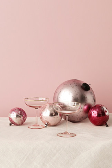 BHLDN glasses rosy-cheeked coupes Valentine's Day
