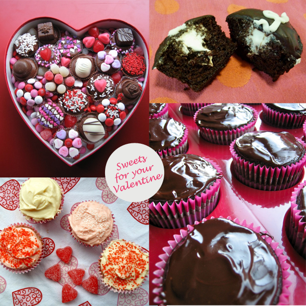 Valentine's Day sweets cupcakes chocolate