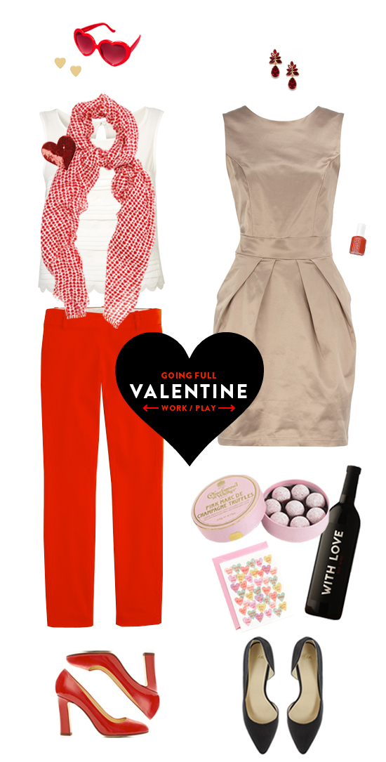 Valentine's Day fashion outfit Note to Self