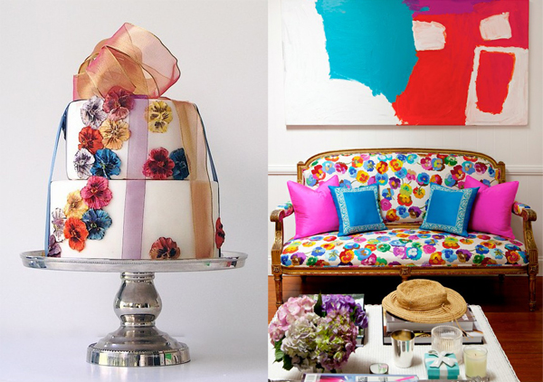 pansy flower side by side missoni fabric couch color maggie austin
