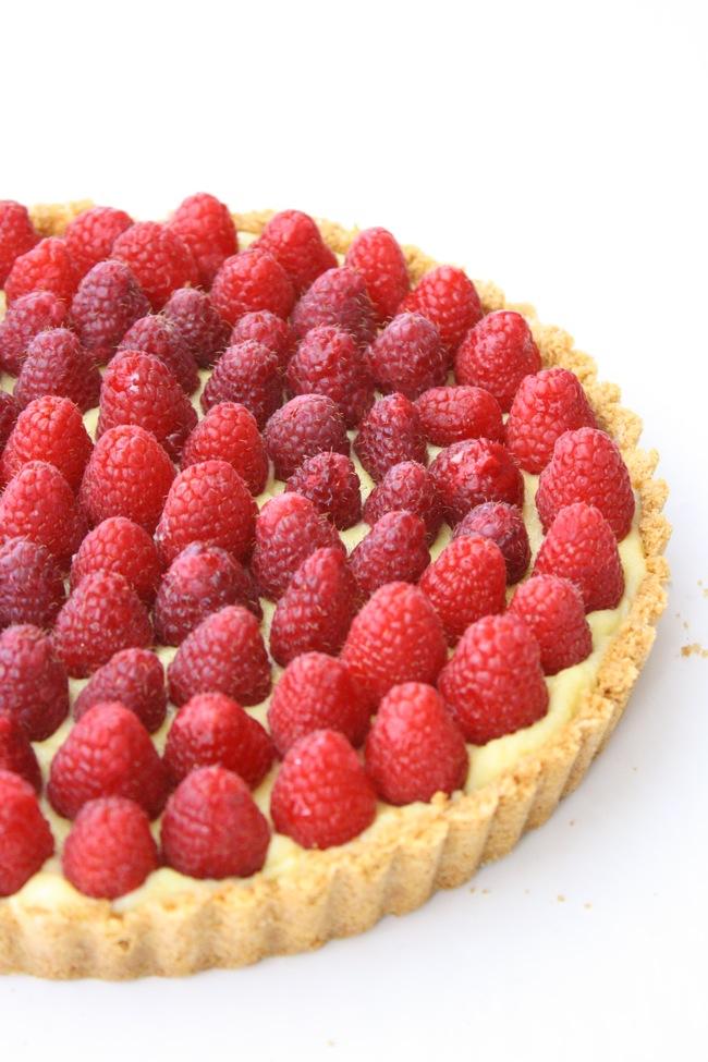 Vanilla Almond Tart Raspberries vmac and cheese Victoria dessert Valentine's Day