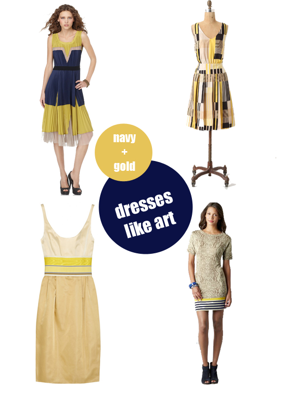 buff blue navy gold dresses art to inspiration