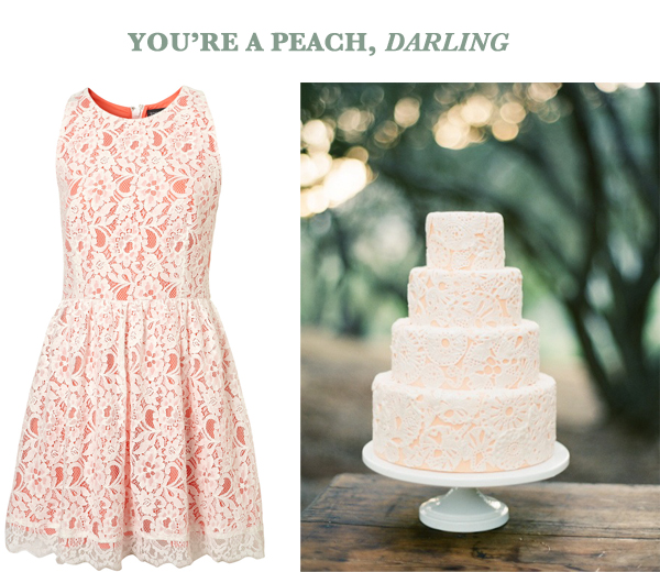 side by side peach dress top shop lace pink cake