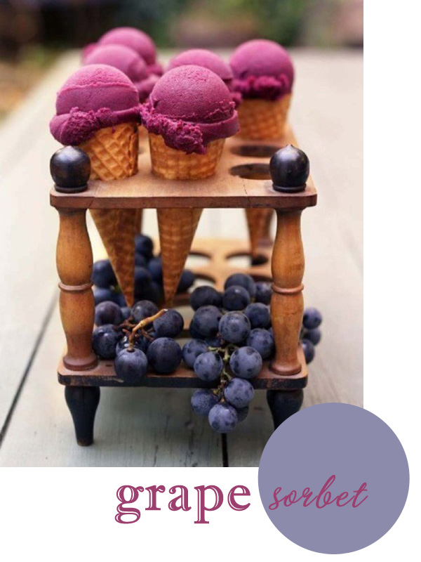 grape sorbet martha stewart purple cones