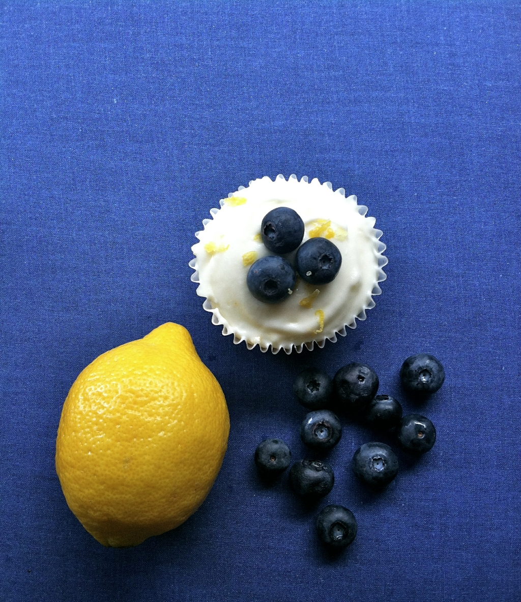 lemon blueberry cupcakes cream cheese frosting
