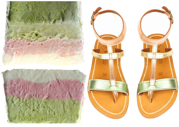 side by side summer semidreddo pistachio strawberry k. kaques sandals