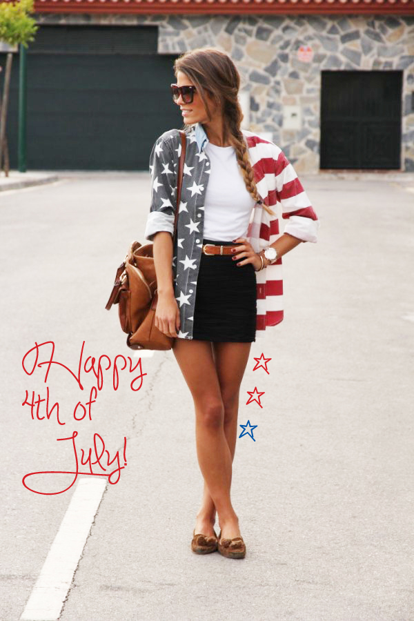 4th of July Independence Day red white blue teen vogue stripes stars