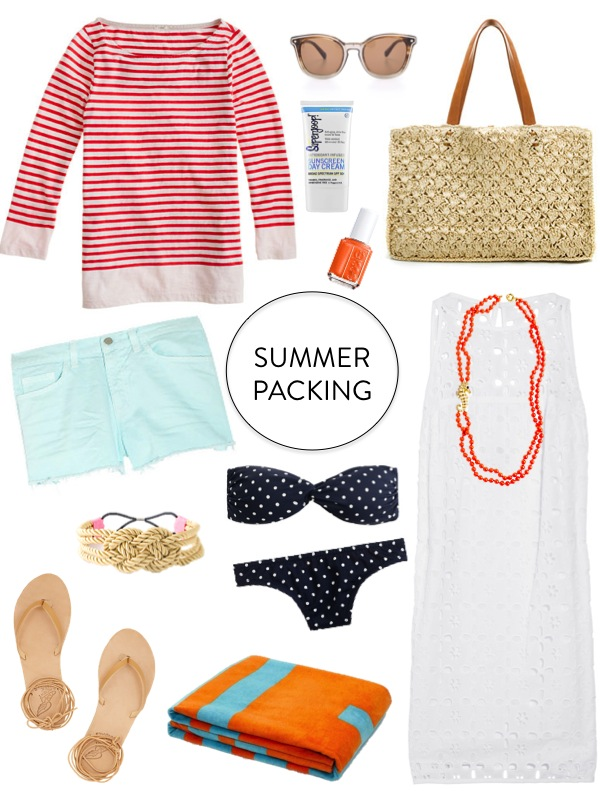 Sequins and Stripes: Summer Packing