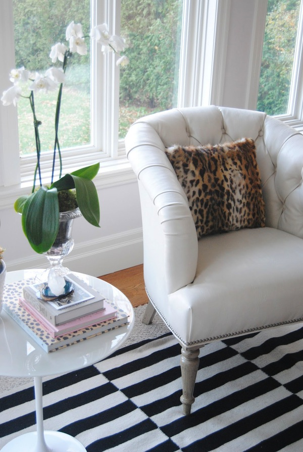 Bijou and Boheme Living Room with Leopard Pillow