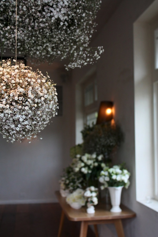 Baby's Breath hanging balls