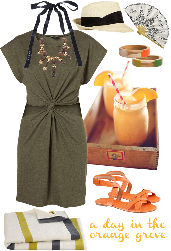 An outfit for a day in the orange grove