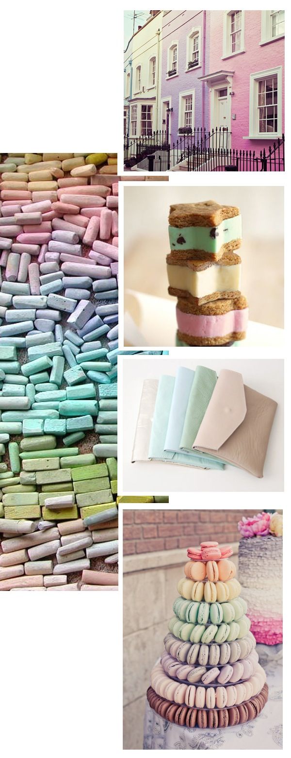 pastel color rows