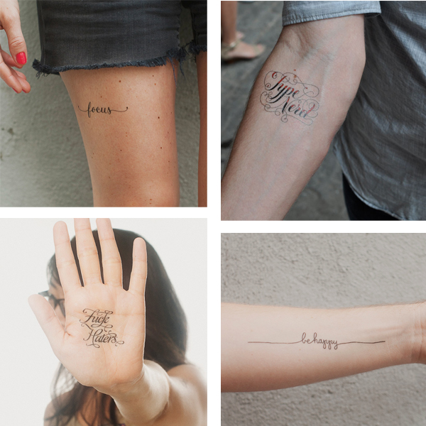 my favorite type tattly tattoos