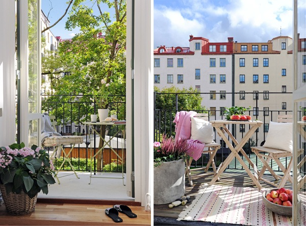 two cute Swedish balconies from alvhem