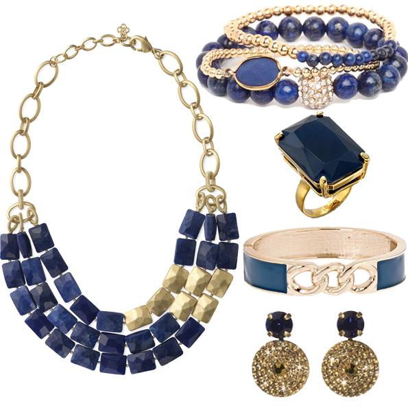 blue and gold jewelry for college colors day
