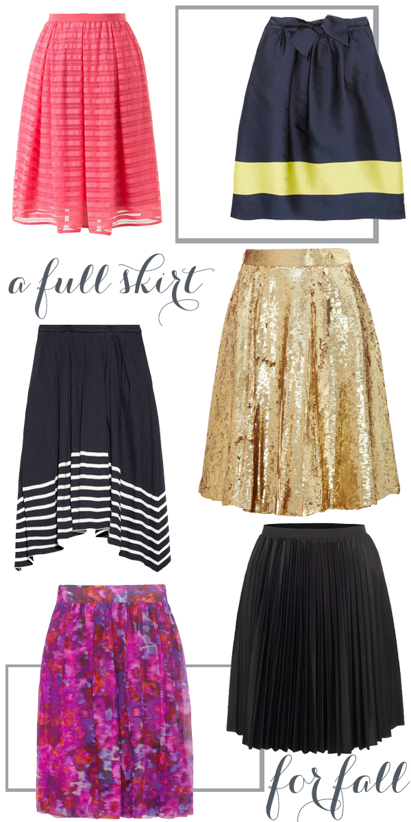  full skirts for fall