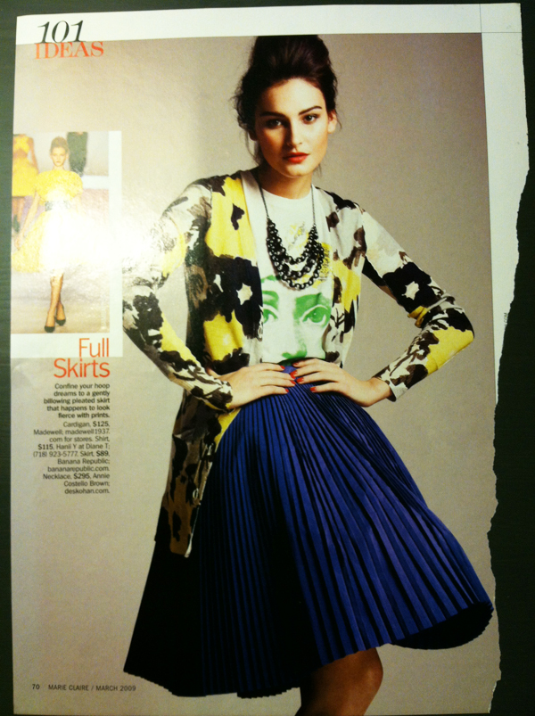 full skirt in Marie Claire March 2009