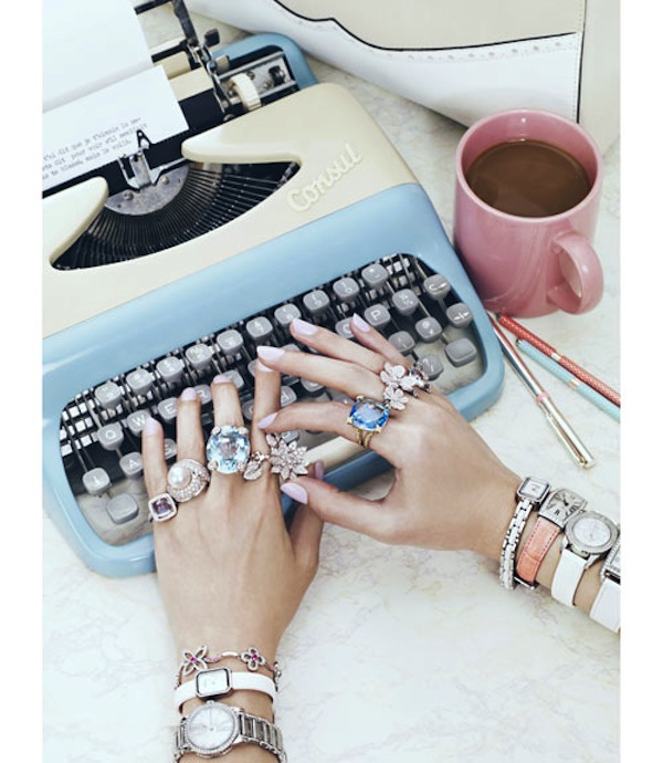 Office Supplies from Marie Claire - typewriter, jewelry