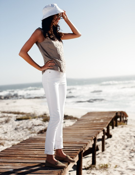 Boden white pants before Labor Day
