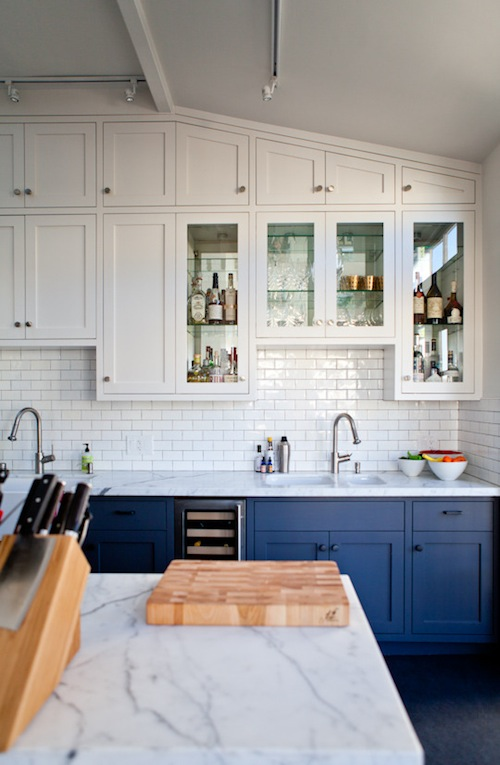 Ryan's blue and white kitchen 