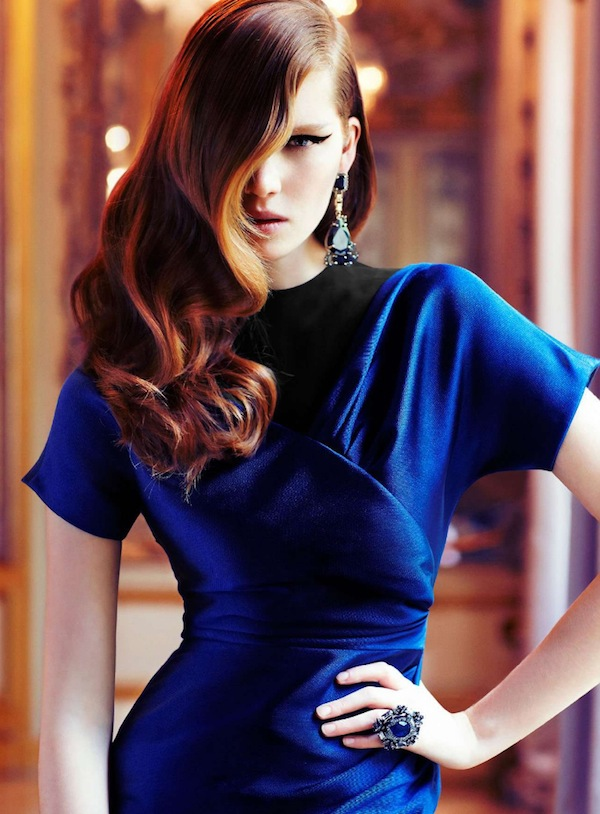 Age of Opulence - blue dress Marie Claire