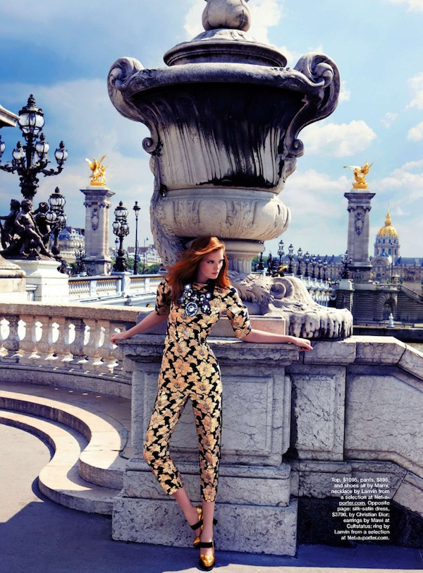 Age of Opulence - gold jumpsuit - Marie Claire