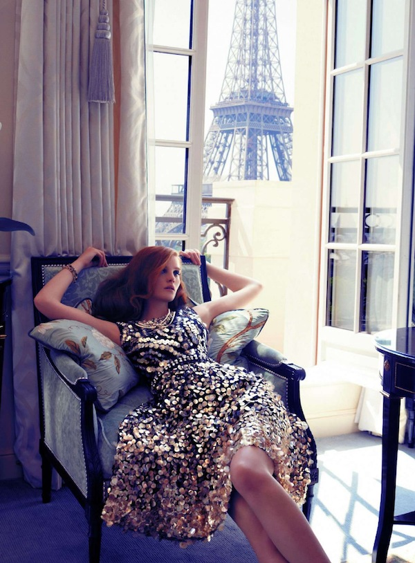 Age of Opulence - Marie Claire - sparkly eiffel tower