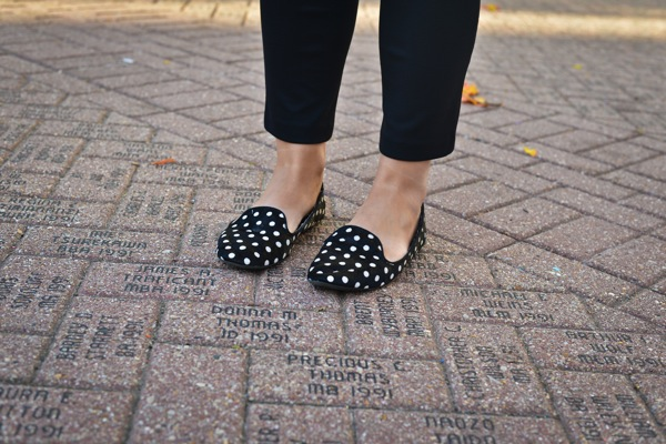 Nikki Rappaport What I Wear to Work Washingtonian Magazine - Gap polka dot loafers