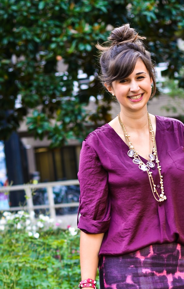Nikki Rappaport What I Wear to Work Washingtonian Magazine - purple ikat