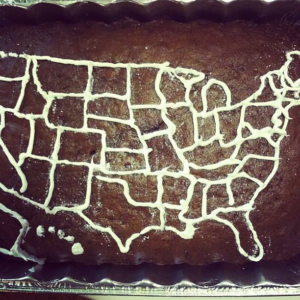election 2012 cake map outline