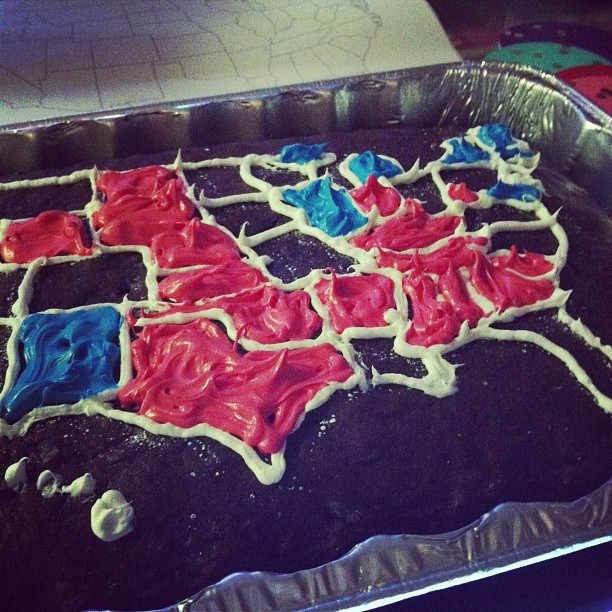 filling in the election 2012 cake map