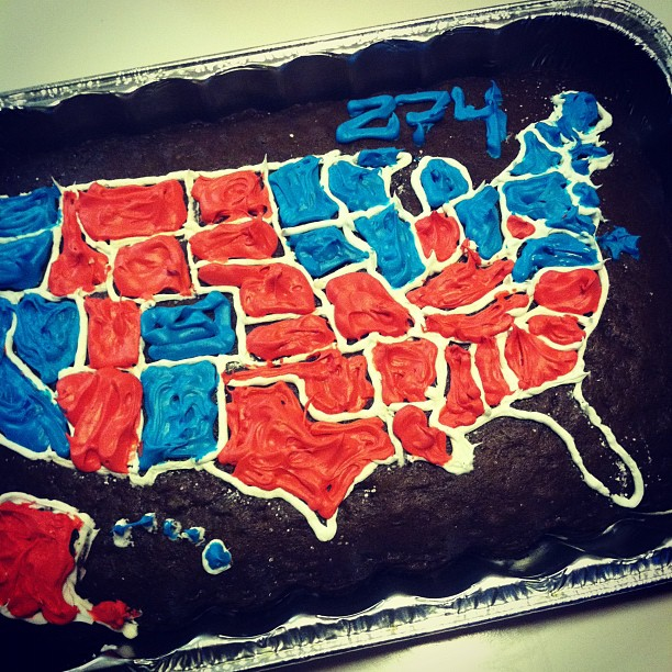 election 2012 cake map - everything but florida